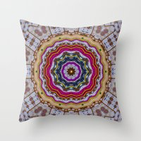 woodstock Throw Pillows featuring Woodstock Pattern kinda by Pepita Selles