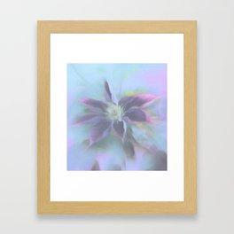 Neon Clematis Framed Art Print