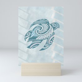 Hawaiian Tribal Turtle Mini Art Print
