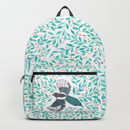 Magpie and Berry Branches Backpack