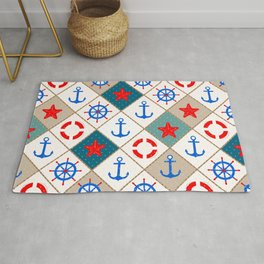 Nautical pattern . 1 Rug