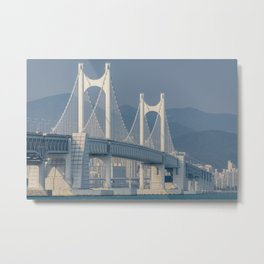 Gwangangdaegyo Suspension Bridge Metal Print