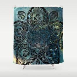 Flower mandala -night Shower Curtain