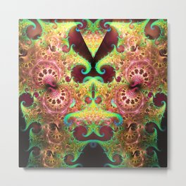 Groovy abstract with spiral patterns Metal Print