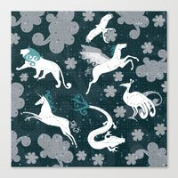 constellation Canvas Prints featuring  Constellation  by Liluna