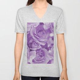 Violet Rose Bouquet For You - Valentine's Day #decor #society6 #homedecor Unisex V-Neck