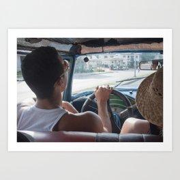 Young Cab Driver, Havana Art Print