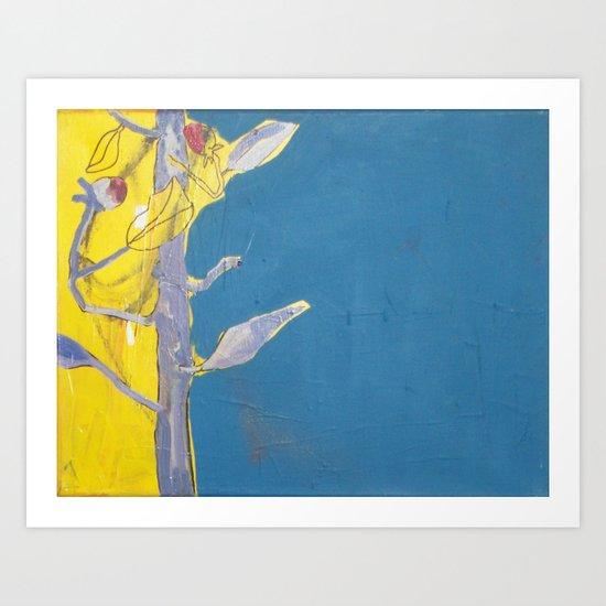 Planta en dos planos Art Print