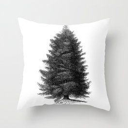 Blue spruce #society6 Throw Pillow