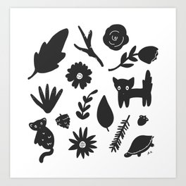 Bits & Pieces Art Print