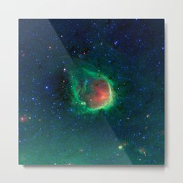 434. A Green Ring Fit for a Superhero Metal Print
