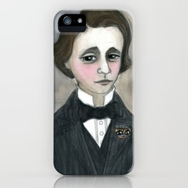 Lewis Carroll and the Cheshire Cat iPhone Case