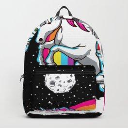 Astronaut Riding Unicorn Backpack