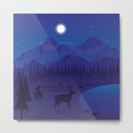 Night landscape Metal Print