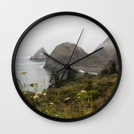 View of Sisters Rock Wall Clock