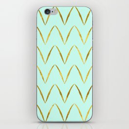 Mint Gold Foil 05 iPhone Skin