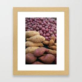 At the Farmers Market Framed Art Print