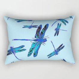 BLUE DRAGONFLY SEASON ART DESIGN  ART Rectangular Pillow