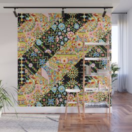 Crazy Patchwork Triangles Wall Mural