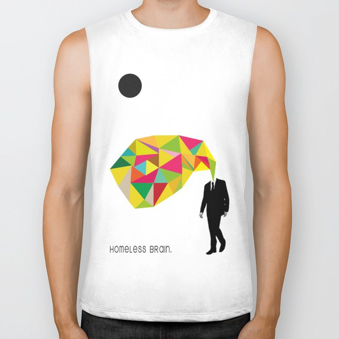 Homeless Brain Biker Tank