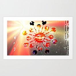 Brighter Blow Eye Art Print