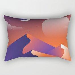 Jewel Desert Evening Rectangular Pillow