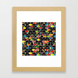 DOTS - polka 1 Framed Art Print