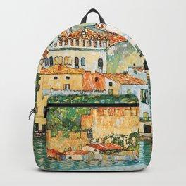 """Gustav Klimt """"Malcesine on Lake Garda"""" Backpack"""