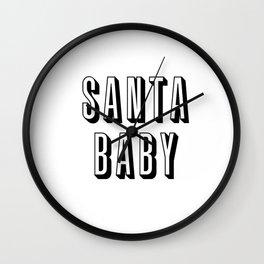 Santa Baby Wall Clock