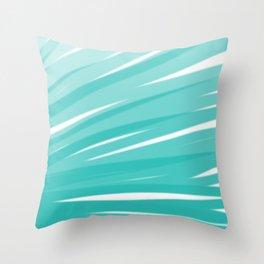 Bahama Blue Line Art, Variable Opacity Color Study - 3 Throw Pillow