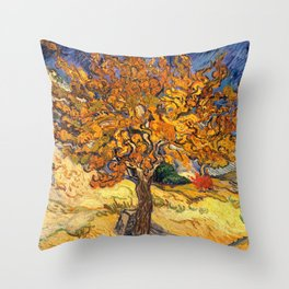 The Mulberry Tree by Vincent van Gogh Throw Pillow