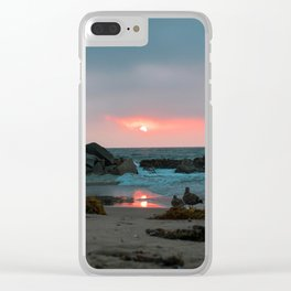 Sunset at Venice Beach Clear iPhone Case