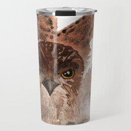 Hawk on the Hunt Travel Mug