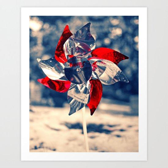 Winter whirligig Art Print