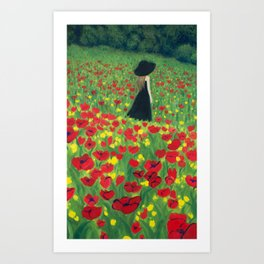 Mourning Lady Art Print