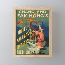 Advertisement chang and fak hongs united Framed Mini Art Print