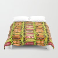 tribal Duvet Covers featuring Tribal  by Slumbermonkey Designs