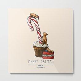 Merry Catmas Metal Print