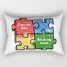 Autism Child Love Puzzle Asperger-Syndrome Gift Rectangular Pillow