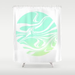 Round marble Shower Curtain