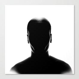 Black Shapes Canvas Print