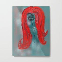 Red girl Metal Print