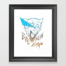 Bite New Year Framed Art Print