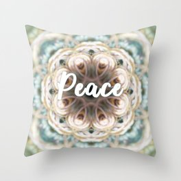 Mandala of the Month: Peace Throw Pillow