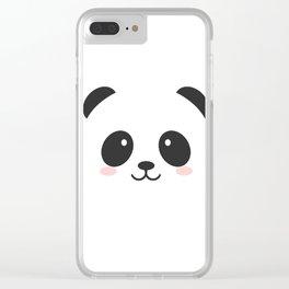 Panda Face Clear iPhone Case