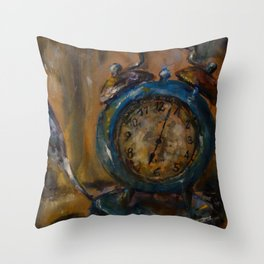 Magical Clock Throw Pillow