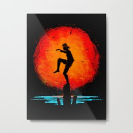 Minimalist Karate Kid Tribute Painting Metal Print