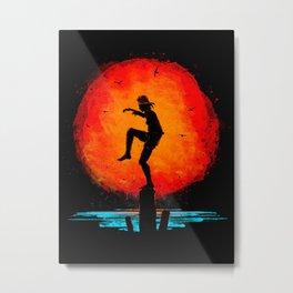 Minimalist Karate Kid Tribute Painting Metal Print