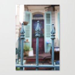 French Quarter Gate Canvas Print