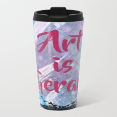 Art Is Therapy Metal Travel Mug